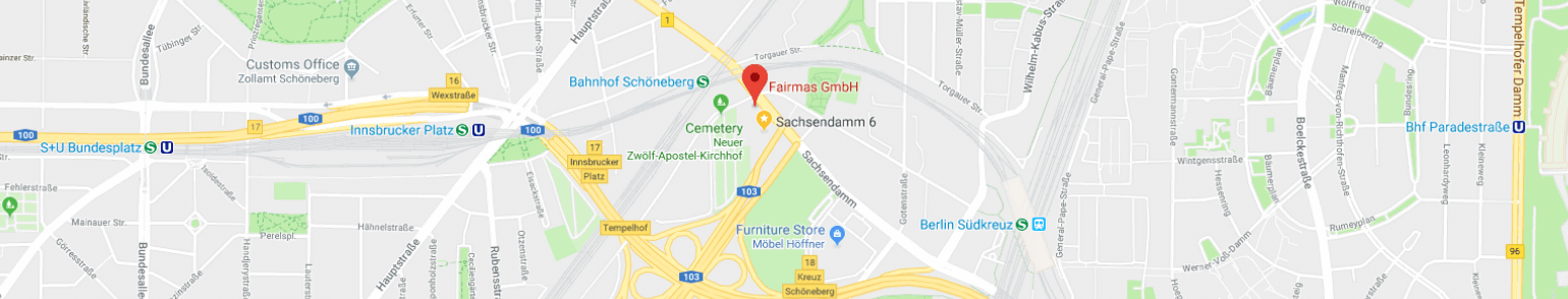 Fairmas location in Google Maps
